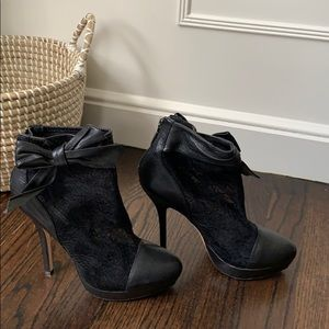Charles David Lace and Leather Bootie 7